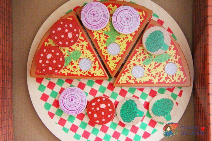 PLAYTIVE®JUNIOR Dřevěná pizza