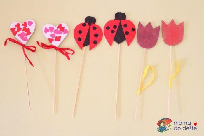 Dárek pro babičku: Snadné DIY Ozdoby do květináče (od 2,5 let)
