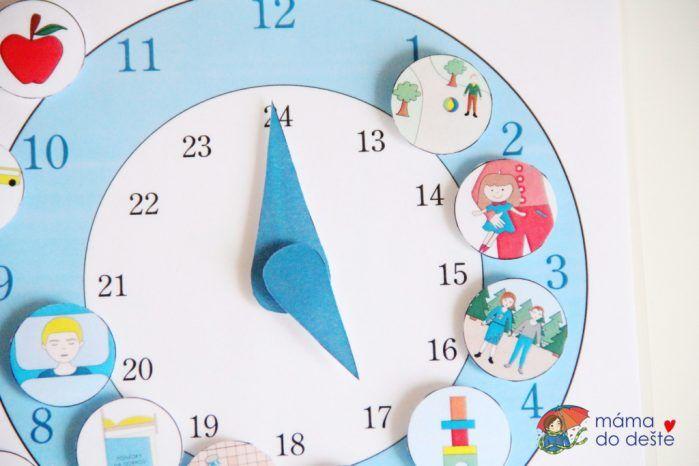 Hodiny pro děti: Denní činnosti v PDF