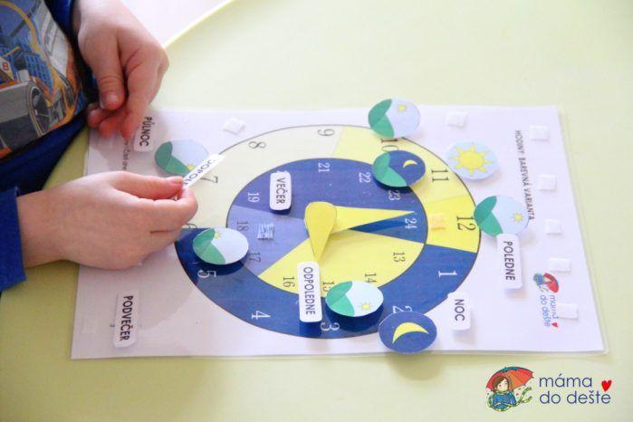 Hodiny pro děti: Denní doba v PDF
