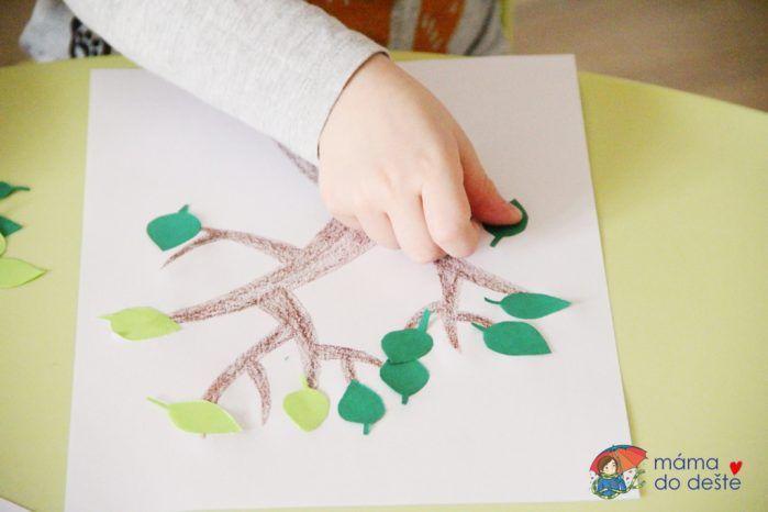 Lístkový strom k nalepení (strom č. 1)