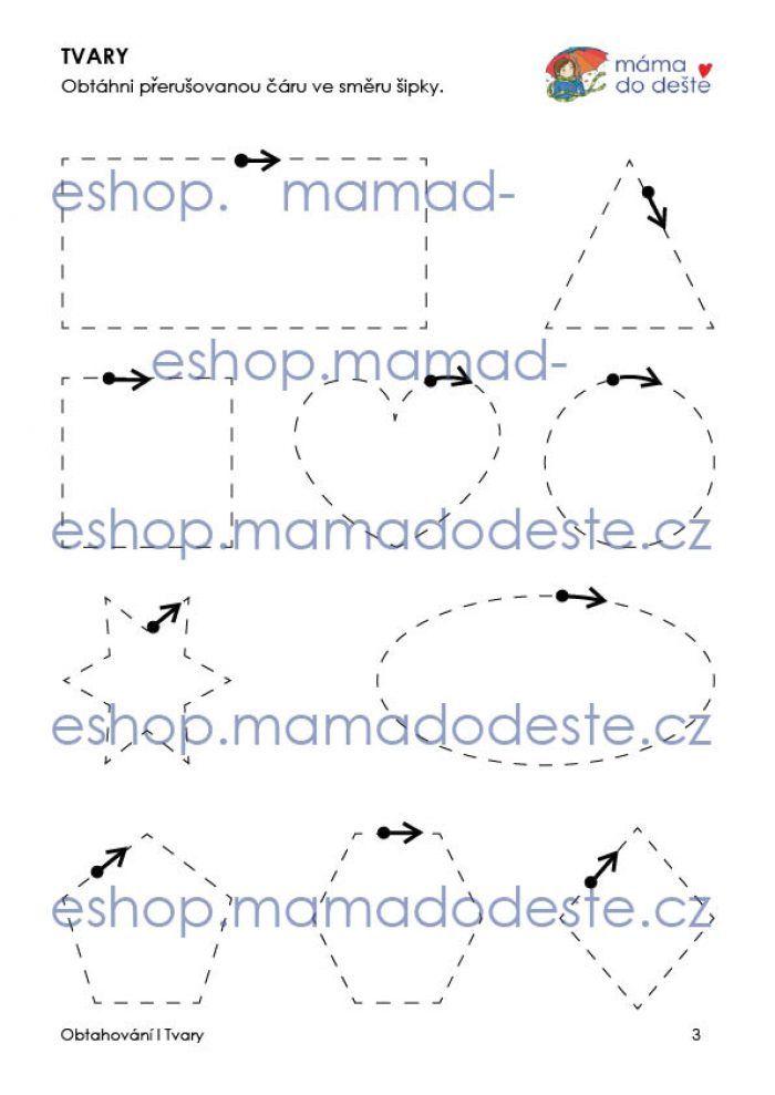 Obtahování: Tvary v PDF (grafomotorika)