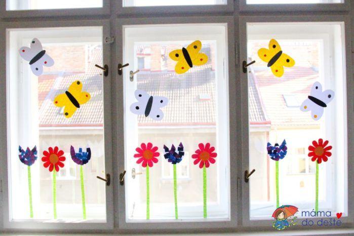 DIY Jarní dekorace na okna