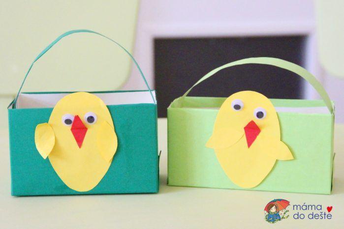 DIY velikonoční košíčky z krabiček od čaje