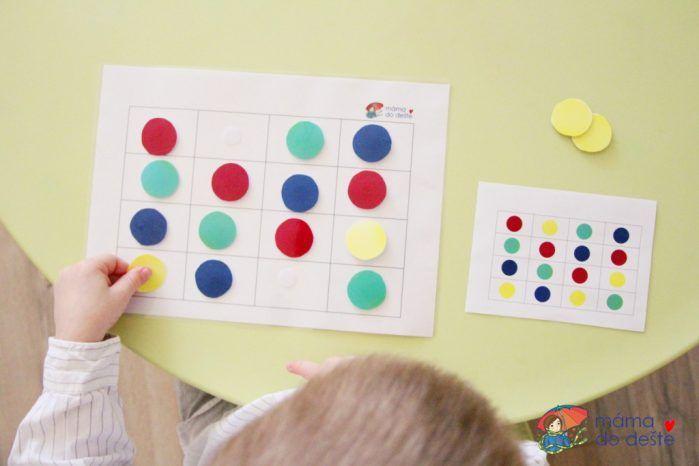 PDF ZDARMA: Hra na procvičení barev a koncentrace (3+)