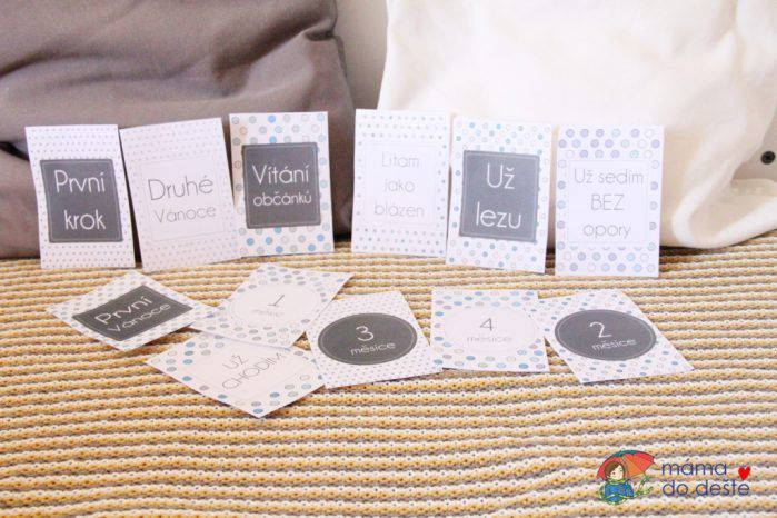 Milníkové kartičky v PDF online (těhotenské a pro miminko)