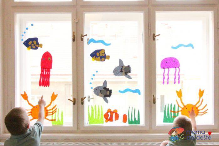Mořský svět: Letní dekorace na okno