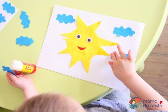 Svítí sluníčko: Zábavné lepení pro nejmenší
