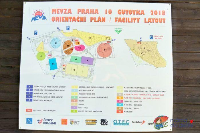 Zábavní park Gutovka - mapa areálu
