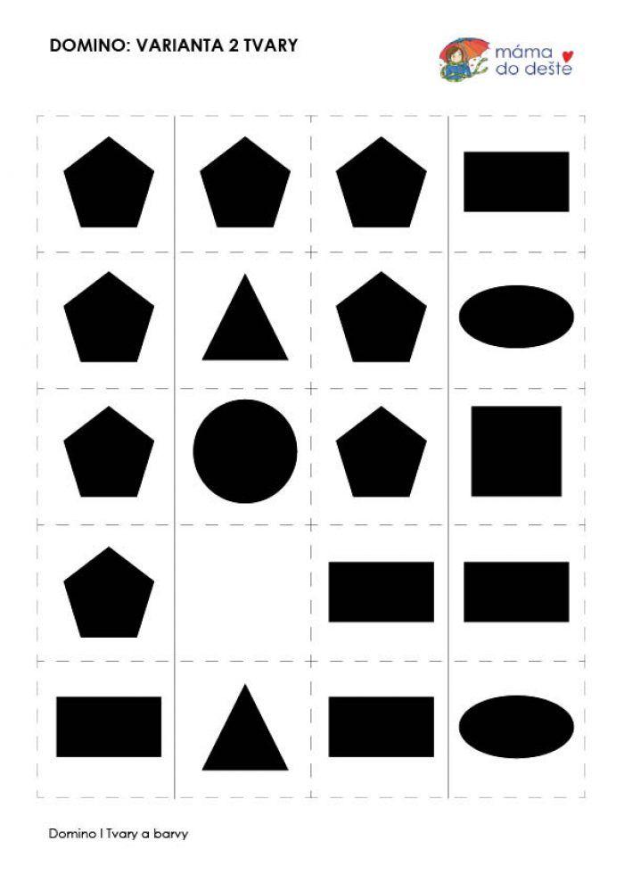 Domino tvary a barvy
