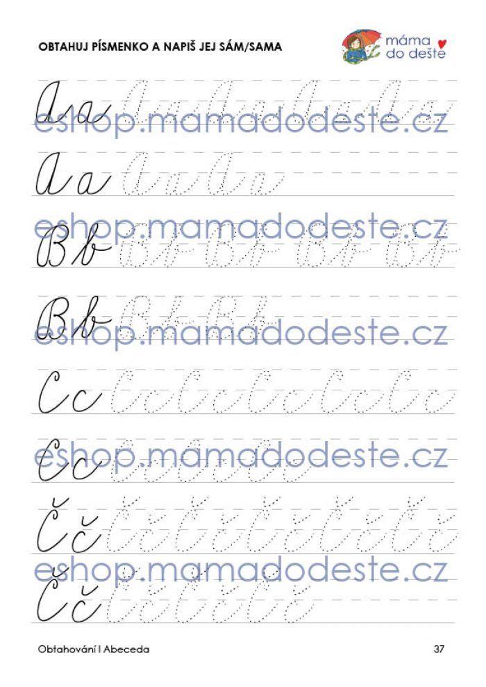 Obtahování: Abeceda v PDF (grafomotorika)