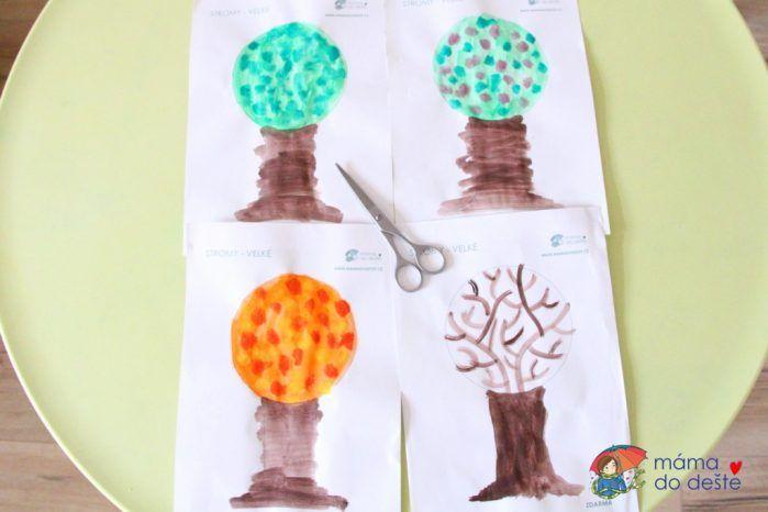 PDF ZDARMA: 3D strom čtvero ročních období k vybarvení