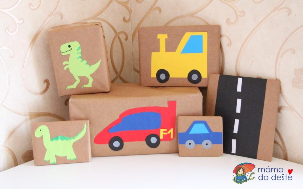 8 tipů, jak originálně zabalit dárky pro malé kluky