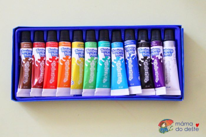 Temperové barvy Colorino