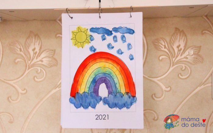 Omalovánkový kalendář pro děti na rok 2021