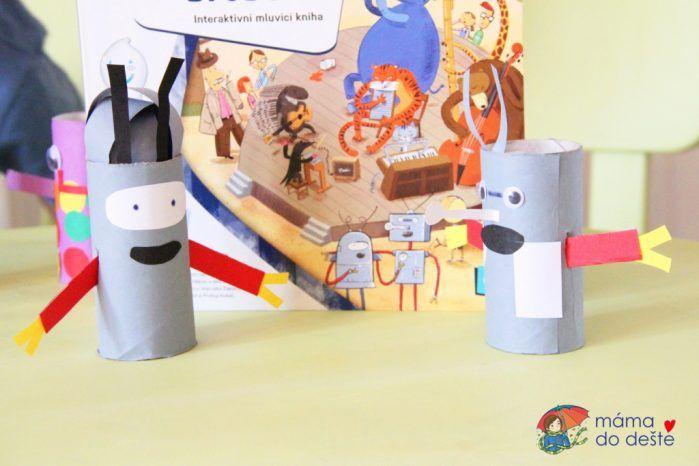 DIY Roboti z ruliček od toaletního papíru (+ pohyblivé ruce)