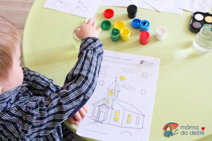 Pracovní listy Šikovné prstíčky ZIMA + Omalovánky zdarma