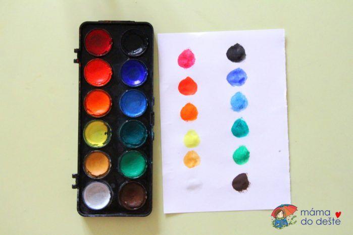 Test vodových barev Koh-i-Noor