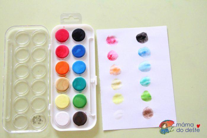 Test vodových barev Europen