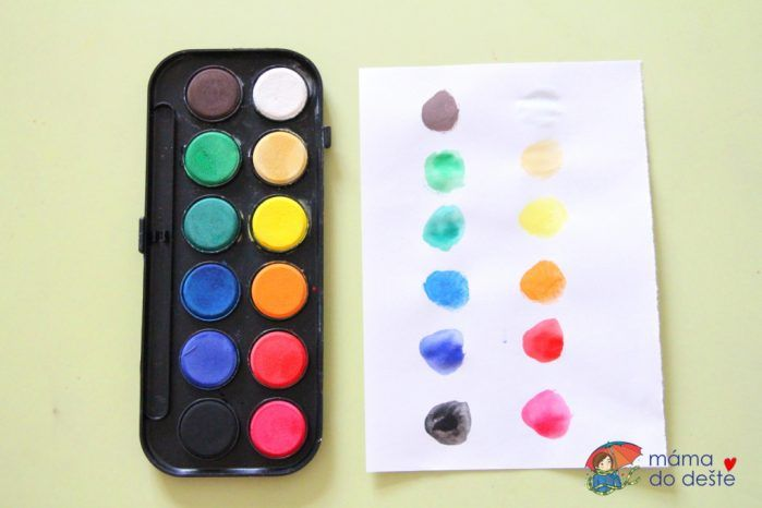Test vodových barev Centropen