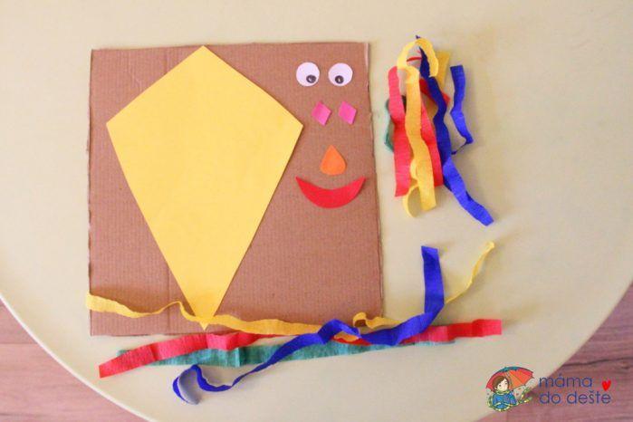 Papíroví draci jako dekorace do dětského pokojíčku