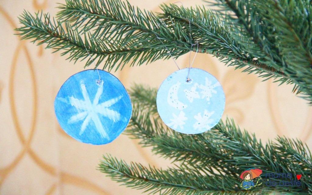 DIY vánoční ozdoby z kartonu: Zimní obloha jako vzpomínka na dětství