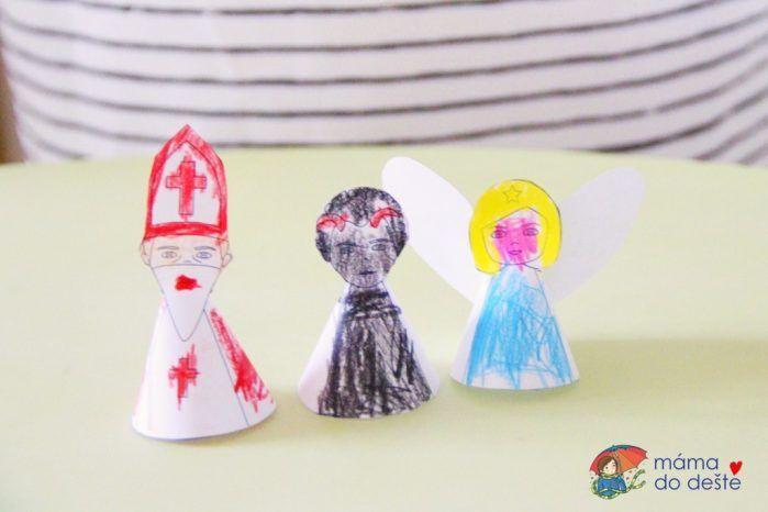 PDF ZDARMA: 3D ozdoby Mikuláš, čert a anděl