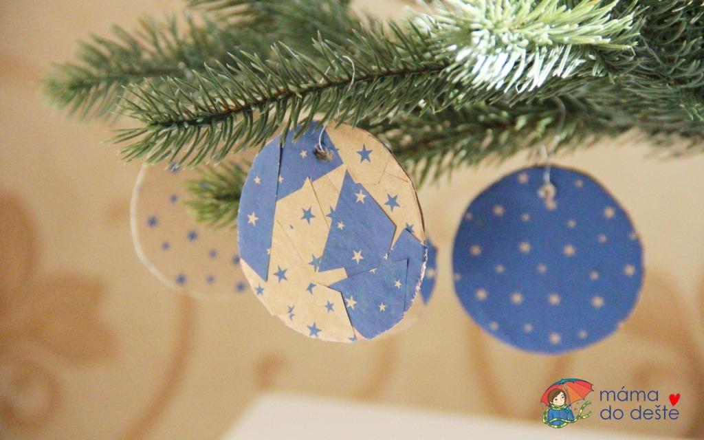 2 tipy na vánoční ozdoby ze staré krabice a zbytků balicího papíru