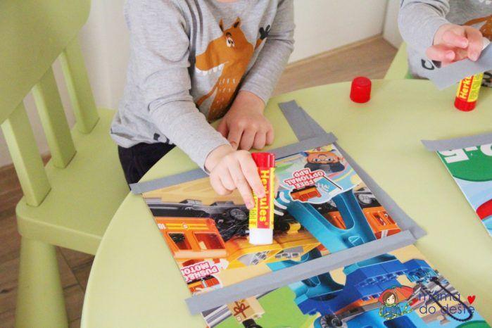 DIY papírový počítač pro děti jako pomůcka pro učení písmen a číslic