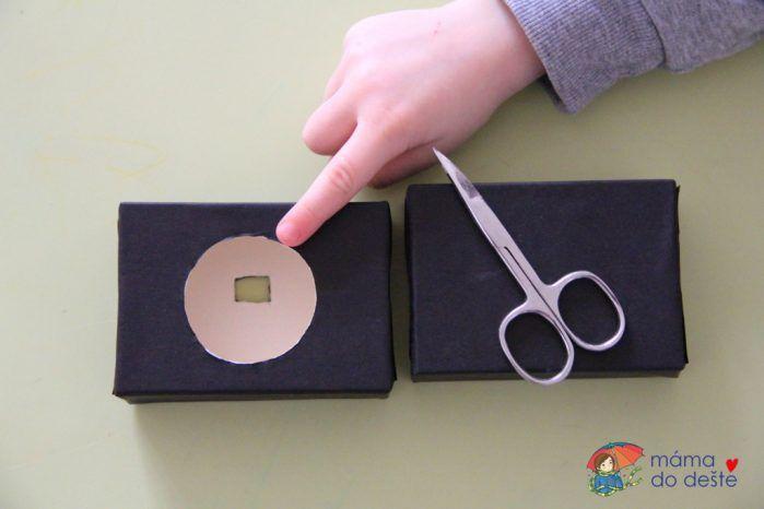 DIY fotoaparát z ruličky od toaletního papíru a krabičky od mýdla