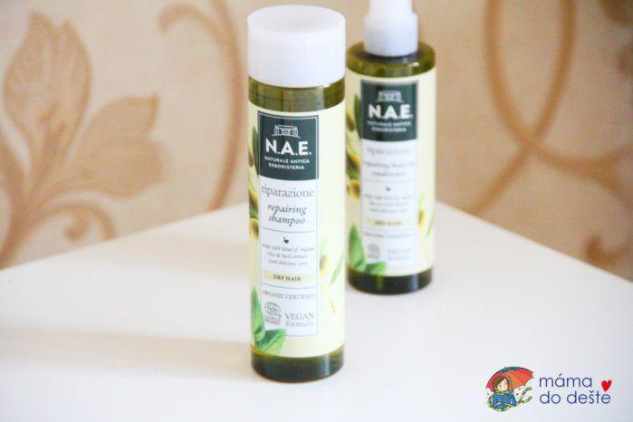 Recenze N.A.E. šampon na vlasy a sprej s olivami Riparazione