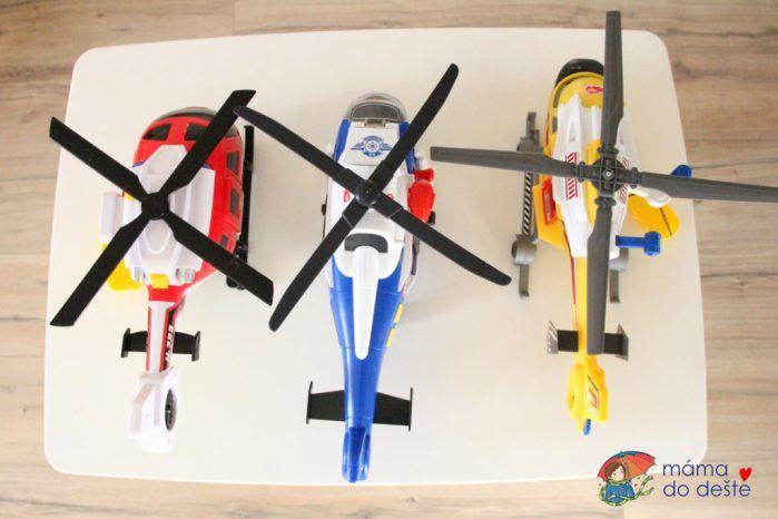 Recenze: Tři druhy velkých plastových vrtulníků pro malé děti