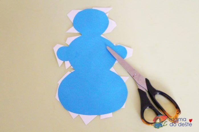 DIY sněhuláci jako zajímavá koláž pro malé děti