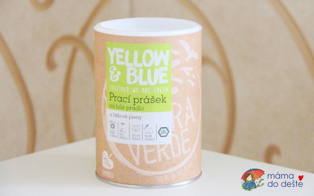 Yellow&Blue: Prací prášek na bílé prádlo a látkové pleny