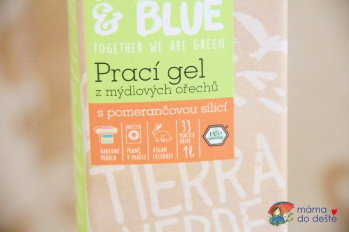 Recenze Yellow&Blue: Prací gel s pomerančem