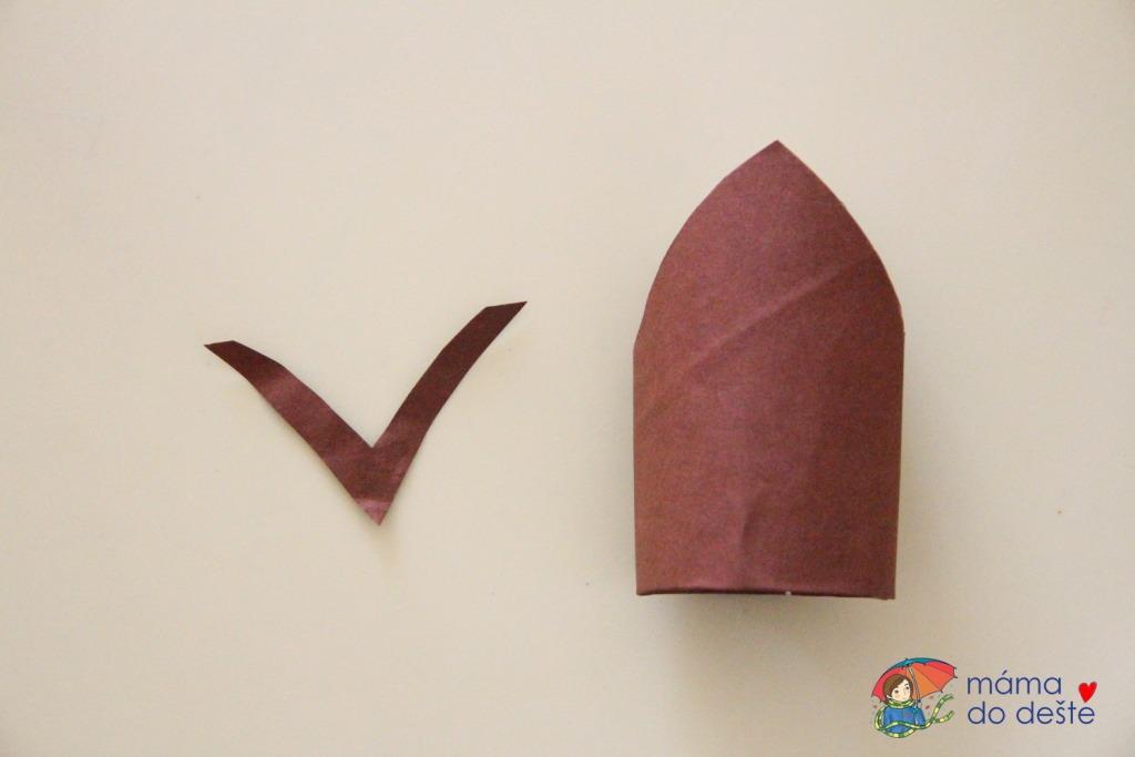 Snadný motýlek z ruličky od toaletního papíru