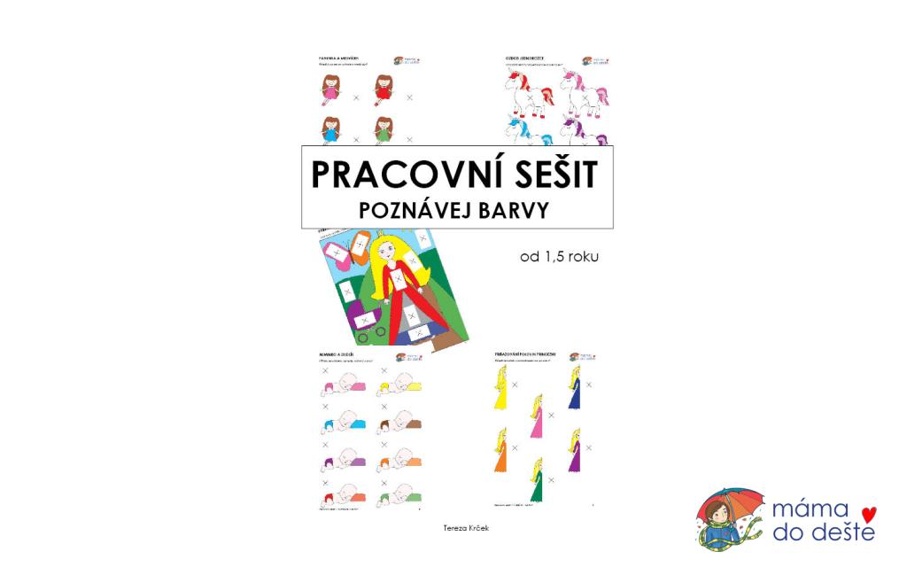 Pracovní sešit - POZNÁVEJ BARVY, 15 stran PDF