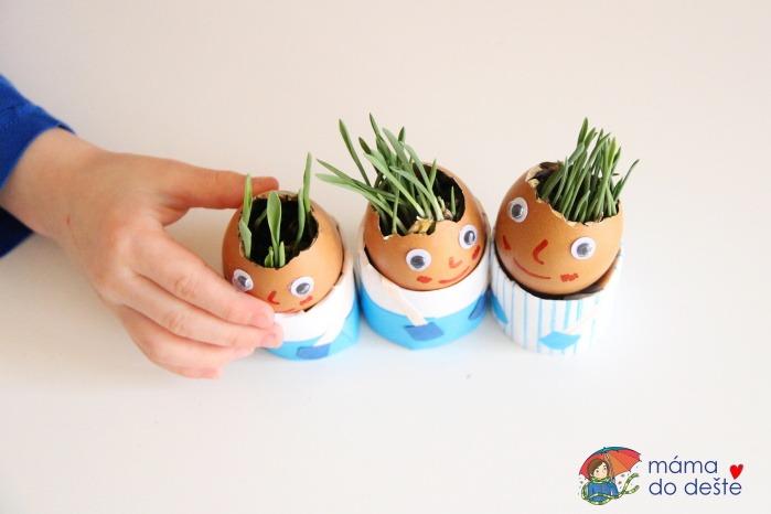 Velikonoce: DIY vlasatí panáčci z vaječných skořápek