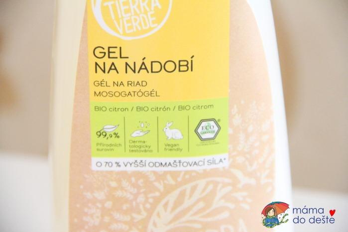 Recenze Tierra Verde: Gel na nádobí s BIO citronovou silicí