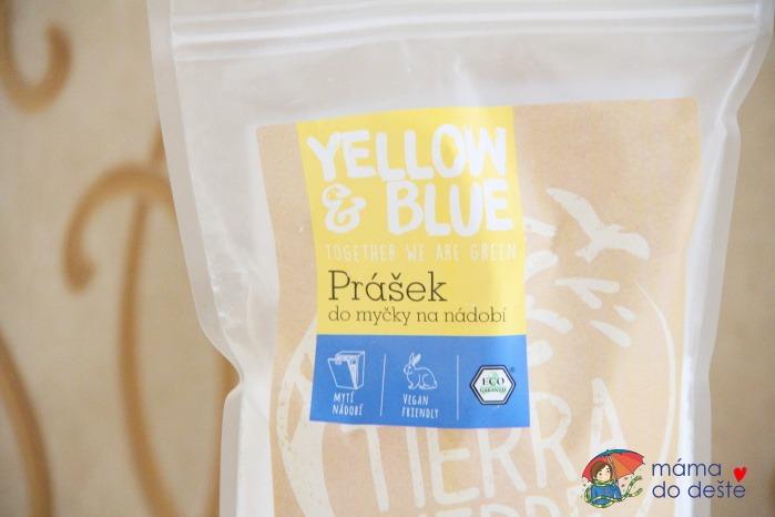 Recenze Yellow&Blue: Prášek do myčky na nádobí