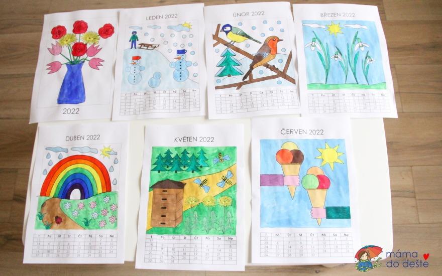 Omalovánkový kalendář pro děti na rok 2022