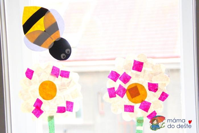 DIY letní dekorace na okna: Včeličky sbírají nektar