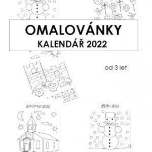 KALENDÁŘ 2022 (A4) Šikovné prstíčky + Omalovánky zdarma PDF