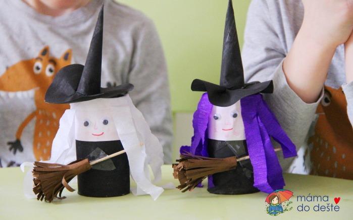 DIY čarodějnice z ruličky od toaletního papíru (postavička na přiblížení pálení čarodějnic)