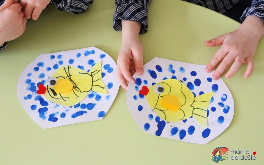 Zlatá rybka v akváriu: Tvoření pro malé děti