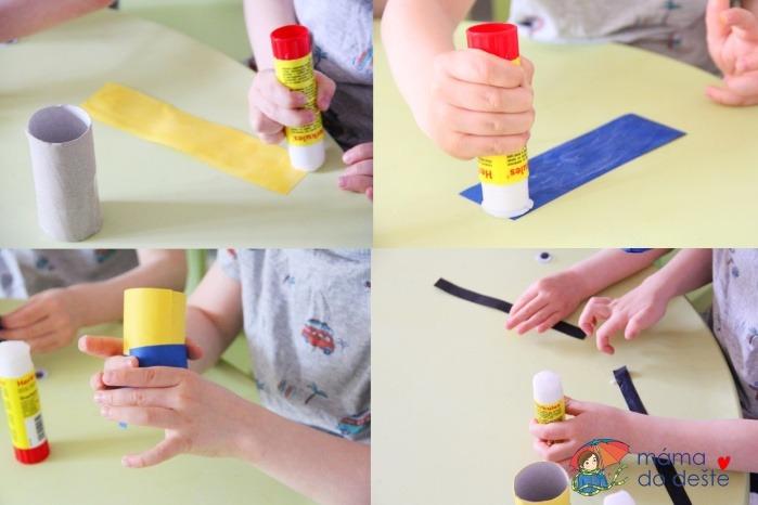 Mimoni: DIY stojánek na tužky z ruličky od toaletního papíru