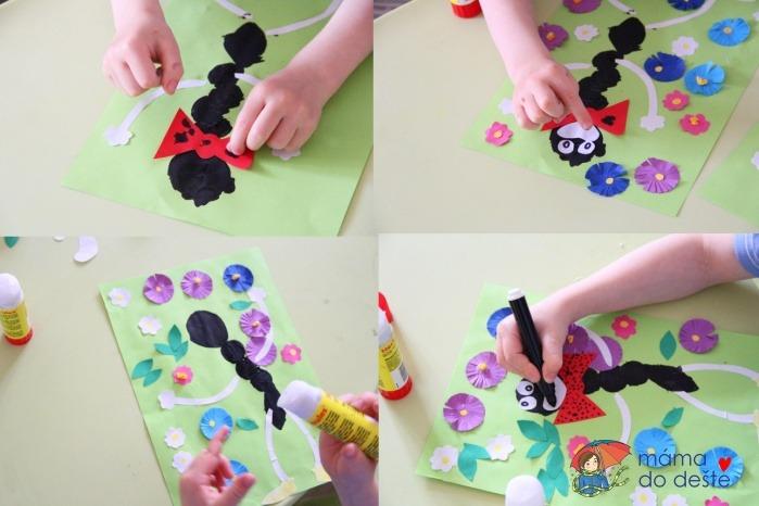 Ferda Mravenec na rozkvetlé louce: DIY tvoření pro malé děti