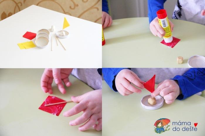 DIY lodičky z víčka od skleničky