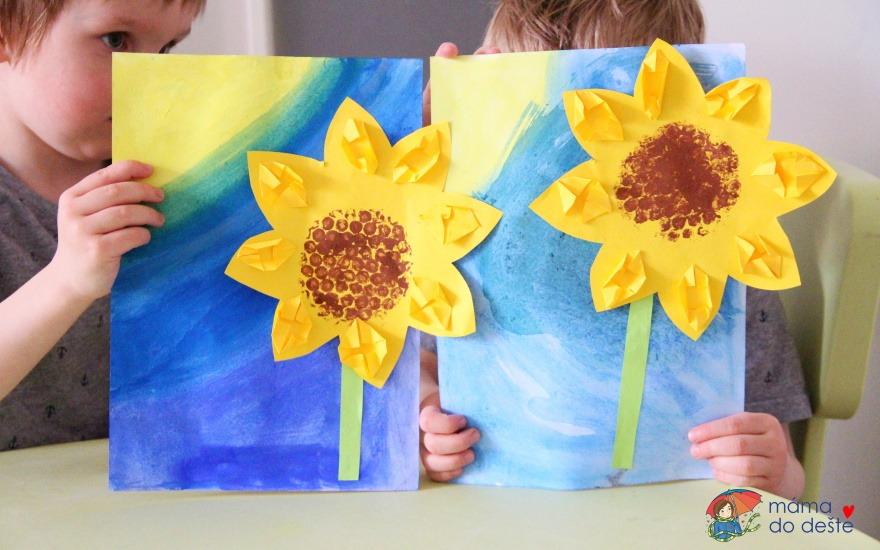 Letní tvoření: Malujeme a lepíme slunečnici