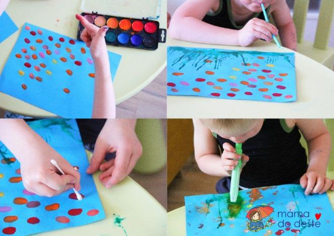 Tip na letní tvoření pro děti: Akvárium z otisku prstu
